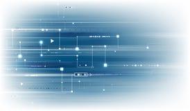 Μπλε ανασκόπηση τεχνολογίας απεικόνιση αποθεμάτων