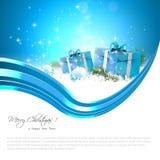 Μπλε ανασκόπηση Χριστουγέννων απεικόνιση αποθεμάτων
