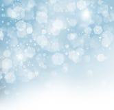 Μπλε ανασκόπηση Χριστουγέννων Glittery Στοκ Φωτογραφίες