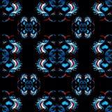 Μπλε αναδρομική ταπετσαρία ταπετσαριών σχεδίων Στοκ Εικόνες