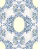 μπλε δαντέλλα χαριτωμένη ταπετσαρία προτύπων σπιτιών φραγών Στοκ εικόνες με δικαίωμα ελεύθερης χρήσης