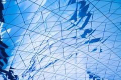 Μπλε αντανάκλαση γυαλιού Στοκ εικόνες με δικαίωμα ελεύθερης χρήσης