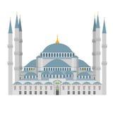 Μπλε απεικόνιση μουσουλμανικών τεμενών Ιστανμπούλ (Τουρκία) ελεύθερη απεικόνιση δικαιώματος