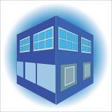 Μπλε απεικόνιση σπιτιών Στοκ Εικόνες