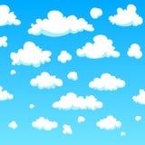μπλε απεικόνιση σχεδίου σύννεφων κινούμενων σχεδίων ανασκόπησης Στοκ φωτογραφίες με δικαίωμα ελεύθερης χρήσης