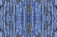 μπλε αποφλοίωση χρωμάτων από τους ξύλινους πίνακες, πίνακας διαφημίσεων Στοκ εικόνες με δικαίωμα ελεύθερης χρήσης