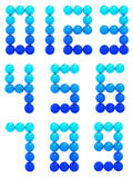 Μπλε αριθμοί Στοκ εικόνα με δικαίωμα ελεύθερης χρήσης