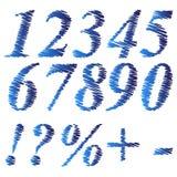 Μπλε αριθμοί Grunge Στοκ Εικόνα