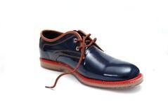 Μπλε αρσενικό παπούτσι μόδας Στοκ Εικόνες