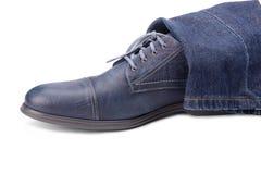 Μπλε αρσενικό παπούτσι Στοκ φωτογραφία με δικαίωμα ελεύθερης χρήσης