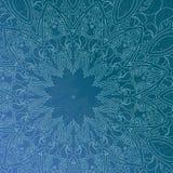 Μπλε ασιατικό σχέδιο κύκλων Στοκ Εικόνα