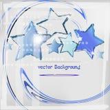 Μπλε αστέρια Στοκ Φωτογραφίες