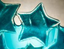 Μπλε αστέρι πάγου στο νερό Στοκ φωτογραφίες με δικαίωμα ελεύθερης χρήσης