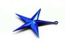 μπλε αστέρι Χριστουγέννω&nu Στοκ Εικόνες