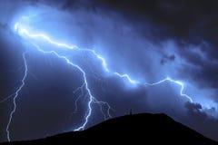 μπλε αστραπή Στοκ Εικόνες