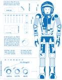 Μπλε αστροναυτών Στοκ Εικόνες