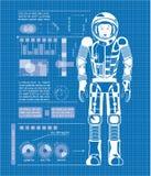 Μπλε αστροναυτών Στοκ φωτογραφία με δικαίωμα ελεύθερης χρήσης