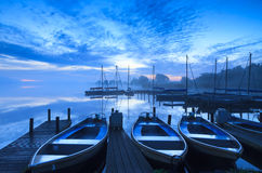 Μπλε αυγή Στοκ Φωτογραφία