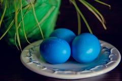 Μπλε αυγών Πάσχας Στοκ Φωτογραφία