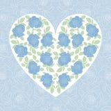 Μπλε αυξήθηκε καρδιά Στοκ φωτογραφία με δικαίωμα ελεύθερης χρήσης