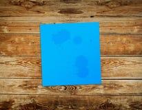 Μπλε αυτοκόλλητη ετικέττα Στοκ Φωτογραφίες