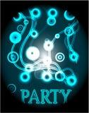 Μπλε αφίσα - κόμμα Στοκ εικόνα με δικαίωμα ελεύθερης χρήσης