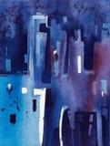Μπλε αφαίρεση των μπλε και μπλε γραμμών Στοκ Εικόνα