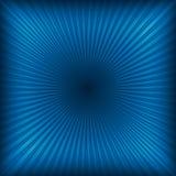 Μπλε αφηρημένες ελαφριές ακτίνες Στοκ Εικόνες