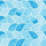 Μπλε αφηρημένη άνευ ραφής ταπετσαρία Watercolor Στοκ Εικόνες
