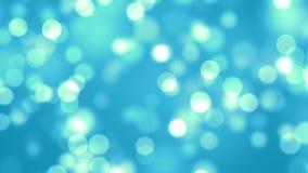 Μπλε αφηρημένος βρόχος υποβάθρου φω'των bokeh απόθεμα βίντεο