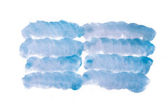 Μπλε αφηρημένος χειροποίητος λεκές watercolor Στοκ φωτογραφίες με δικαίωμα ελεύθερης χρήσης