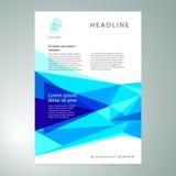 Μπλε αφηρημένο γεωμετρικό υπόβαθρο τριγώνων Στοκ Φωτογραφίες