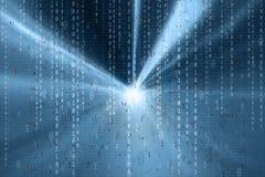 Μπλε αφηρημένο ελαφρύ δυαδικό υπόβαθρο αριθμών Στοκ Εικόνες
