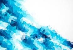 Μπλε αφηρημένο ζωηρόχρωμο υπόβαθρο τριγώνων στοκ εικόνα