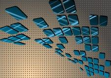 Μπλε αφηρημένο κεραμίδι Στοκ φωτογραφίες με δικαίωμα ελεύθερης χρήσης