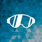 Μπλε αφηρημένο υπόβαθρο αθλητικού χειμώνα γυαλιών βοηθητικό διανυσματική απεικόνιση