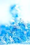 Μπλε αφηρημένο υπόβαθρο διακοσμήσεων Χριστουγέννων Στοκ φωτογραφία με δικαίωμα ελεύθερης χρήσης