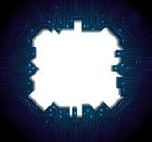 Μπλε αφηρημένο υπόβαθρο κυκλωμάτων τεχνολογίας Στοκ Εικόνες