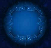 Μπλε αφηρημένο υπόβαθρο κυκλωμάτων τεχνολογίας Στοκ Φωτογραφίες