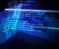 Μπλε αφηρημένο υπόβαθρο κωδικού πηγής Στοκ φωτογραφίες με δικαίωμα ελεύθερης χρήσης