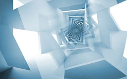 Μπλε αφηρημένο υπόβαθρο, σπειροειδές σχέδιο φαντασίας Στοκ εικόνες με δικαίωμα ελεύθερης χρήσης
