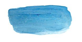 Μπλε αφηρημένο υπόβαθρο στο ύφος watercolor Στοκ Φωτογραφία