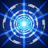 Μπλε αφηρημένο υπόβαθρο τεχνολογίας, διανυσματική απεικόνιση Στοκ Εικόνες