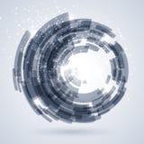Μπλε αφηρημένο υπόβαθρο τεχνολογίας διανυσματική απεικόνιση