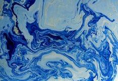 Μπλε αφηρημένο υπόβαθρο Υγρό μαρμάρινο σχέδιο διανυσματική απεικόνιση