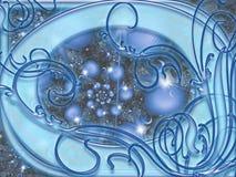 Μπλε αφηρημένο υπόβαθρο Στοκ Εικόνα