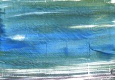 Μπλε αφηρημένο υπόβαθρο watercolor κιρκιριών Στοκ εικόνα με δικαίωμα ελεύθερης χρήσης