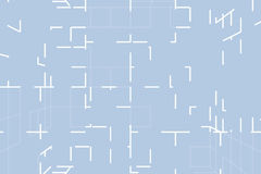 Μπλε αφηρημένο φουτουριστικό χαοτικό υπόβαθρο τεχνολογίας τρισδιάστατο Στοκ Φωτογραφίες