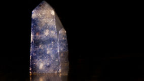 Μπλε αχάτης - κρύσταλλο Στοκ Εικόνες