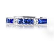 Μπλε δαχτυλίδι πολύτιμων λίθων Στοκ φωτογραφίες με δικαίωμα ελεύθερης χρήσης